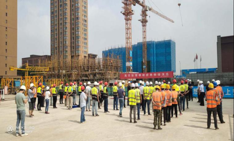 鑫泰苑二期项目举行高处坠落事故应急救援演练活动