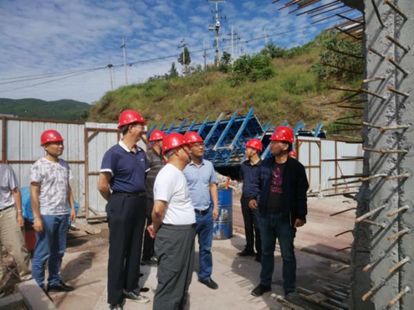 中陕核集团副总经理高利鹏一行莅临南江项目检查指导工作